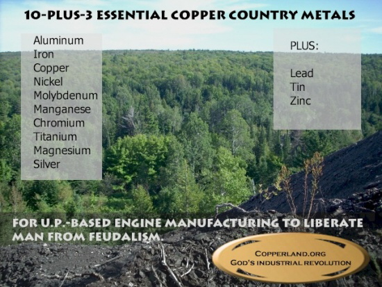 Local product manufacturing using Copper Country resources